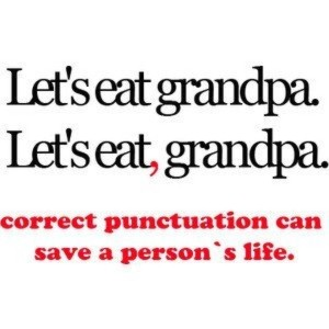 Een komma kan een wereld van verschil maken