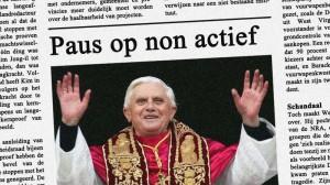 Ook de paus zet op Valentijnsdag de bloemetjes lekker buiten!