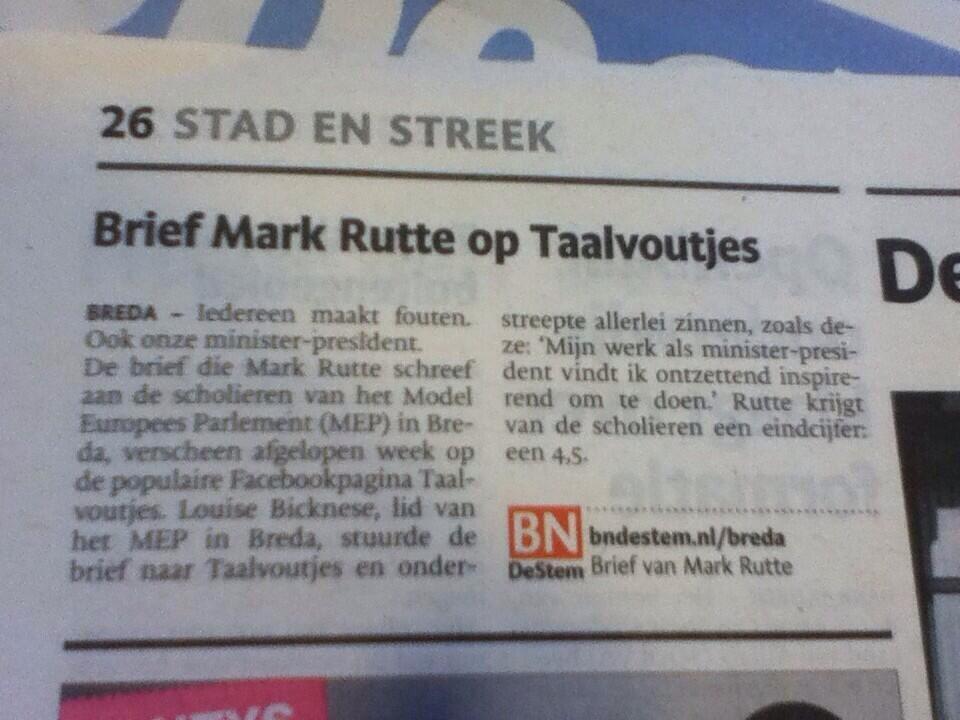 Mark Rutte kan weer terug de schoolbanken in!