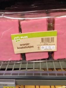 Oranjekoekstukjes