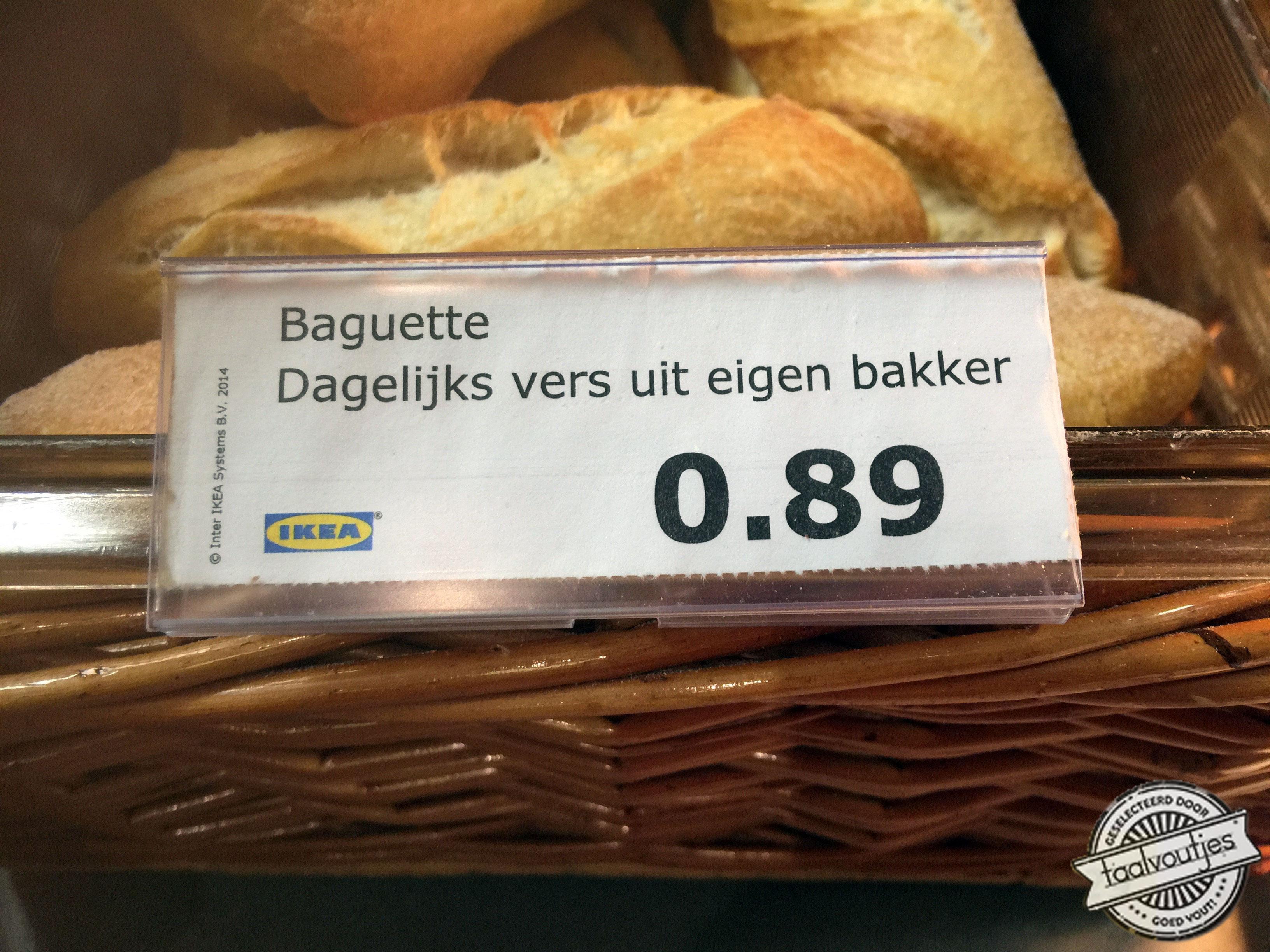 Baguette dagelijks vers uit eigen bakker - Ikea