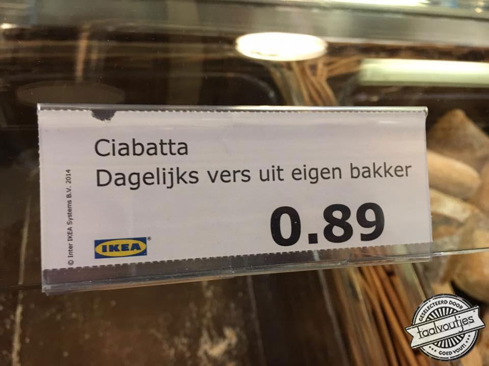 Ciabatta dagelijks vers uit eigen bakker - Ikea