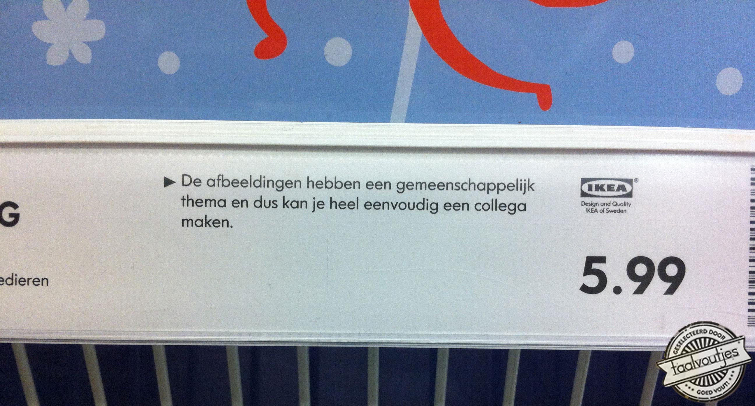 Collega maken - Ikea