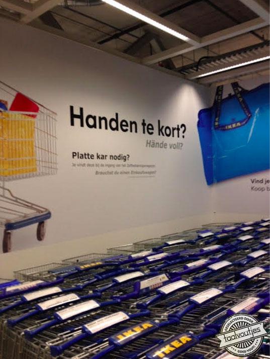 Handen te kort - Ikea