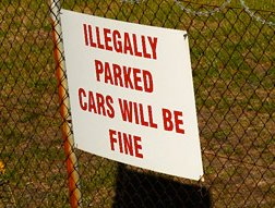 Toch wel fijn dat je hier mag foutparkeren