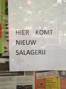 Is dat een saladebar of een slagerij?