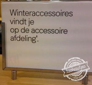 In ieder geval is 'accessoires' goed geschreven!