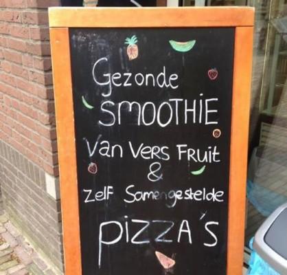 smoothie van pizza