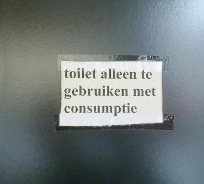 toilet alleen met consumptie