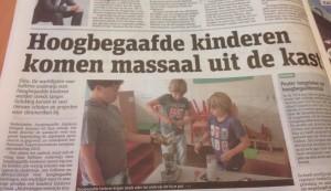 Dus hoogbegaafde kinderen zijn per definitie homofiel?