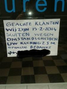 Hopelijk hebben die omstandigheden te maken met Nederlandse les.