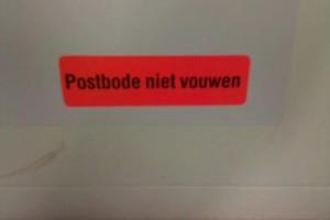 Zo flexibel is de postbode toch niet?