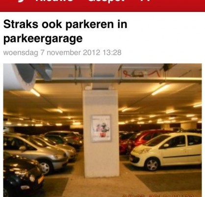 Parkeren in parkeergarage