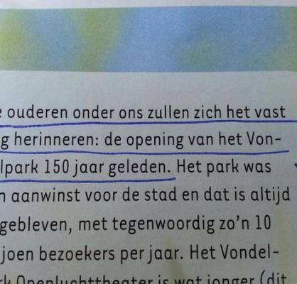 opening vondelpark