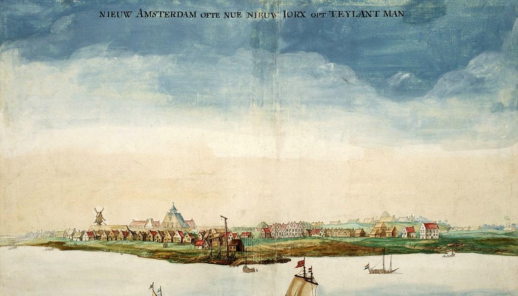 Gezicht Op Nieuw Amsterdam