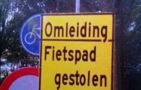 fietspad gestolen