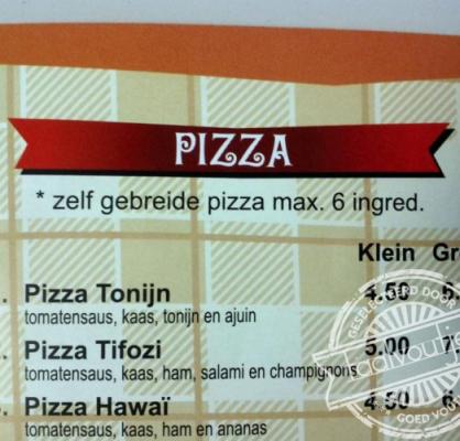 Zelf gebreide pizza
