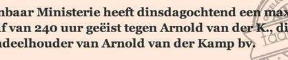 arnold van der k