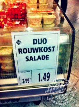 Laten we een minuutje stilte houden bij de salade…