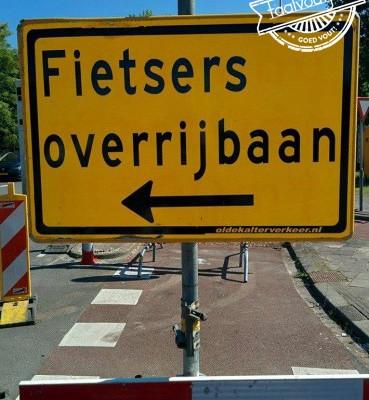 fietsers overrijbaan of fietsers over rijbaan?