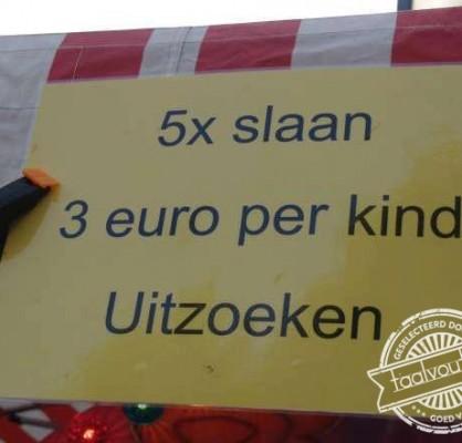 5 x slaan, 3 euro per kind