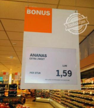 Houdt de supermarktmanager ze even onder zijn oksel dan?