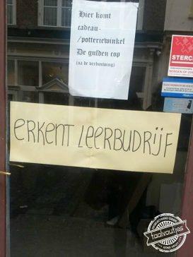 Hopelijk niet voor Nederlandse les.