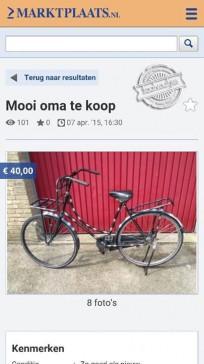 Op een oude fiets moet je het leren