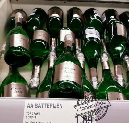Batterijen of wijn om op te laden?