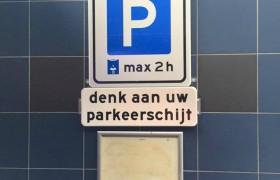 parkeerschijt of parkeerschijf?