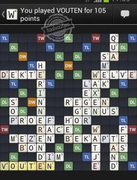 Zelfs Wordfeud accepteert onze nieuwe spelling!