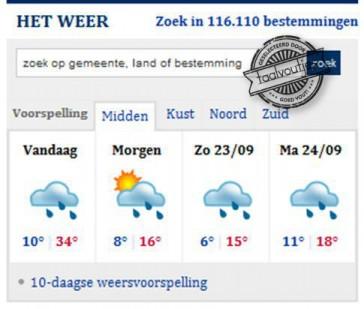 Oké, wel regen vandaag, maar die temperatuur maakt alles goed