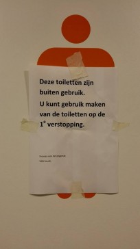 9. De toiletten zijn namelijk verdiept.