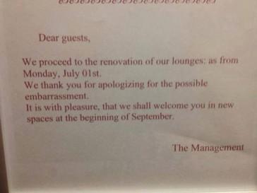 Vooruit dan maar, sorry voor onze schaamte!