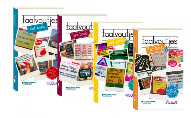 Boeken en scheurkalender Taalvoutjes