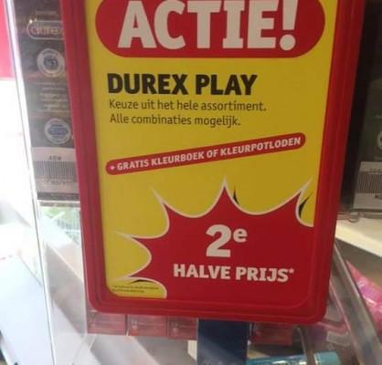Durex met kleurpotloden