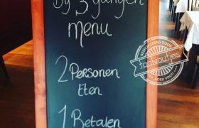 2 eten 1 betalen