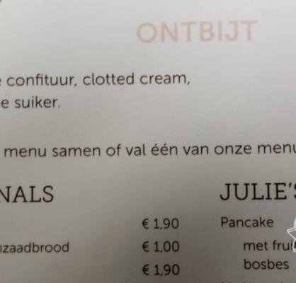 Val één van onze menu's aan