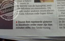 Douwe Bob tien minuten stilte