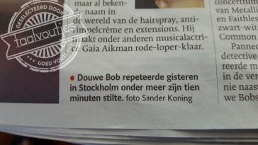 Wij schatten de kansen van Douwe Bob niet heel hoog in …