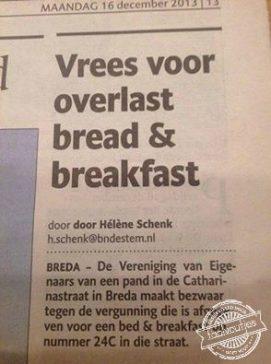 Gelukkig krijg je wel brood bij je ontbijt …