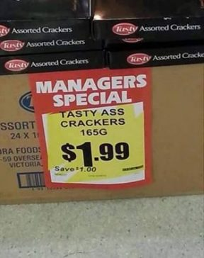This supermarket has been the butt of many jokes.