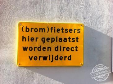 Zou je (brom)fiets er wel mogen blijven staan?