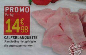 Niet verkrijgbaar in al onze supermarkten
