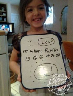 Kids say the darndest things.
