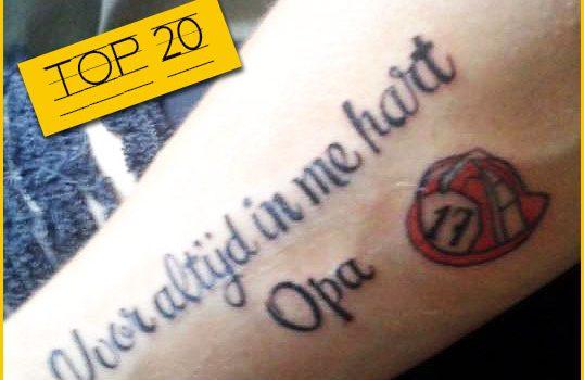 In inkt vereeuwigd: 20 tatoeagevoutjes