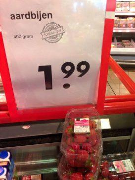 Ik hoor wat zoemen op m'n fruitschaal.
