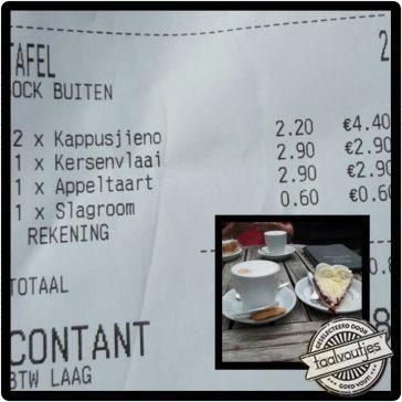 Nu ook koffie helemaal verkeerd op de kaart!