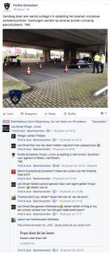 Zelfs de politie treedt op tegen taalovertredingen.