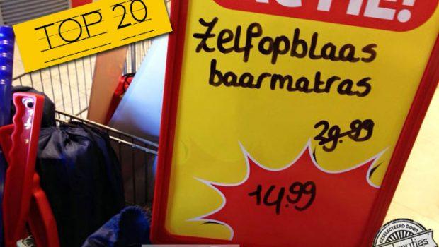 Van gemeen tehuis tot boeren met worsten: 20 grappige spatievoutjes